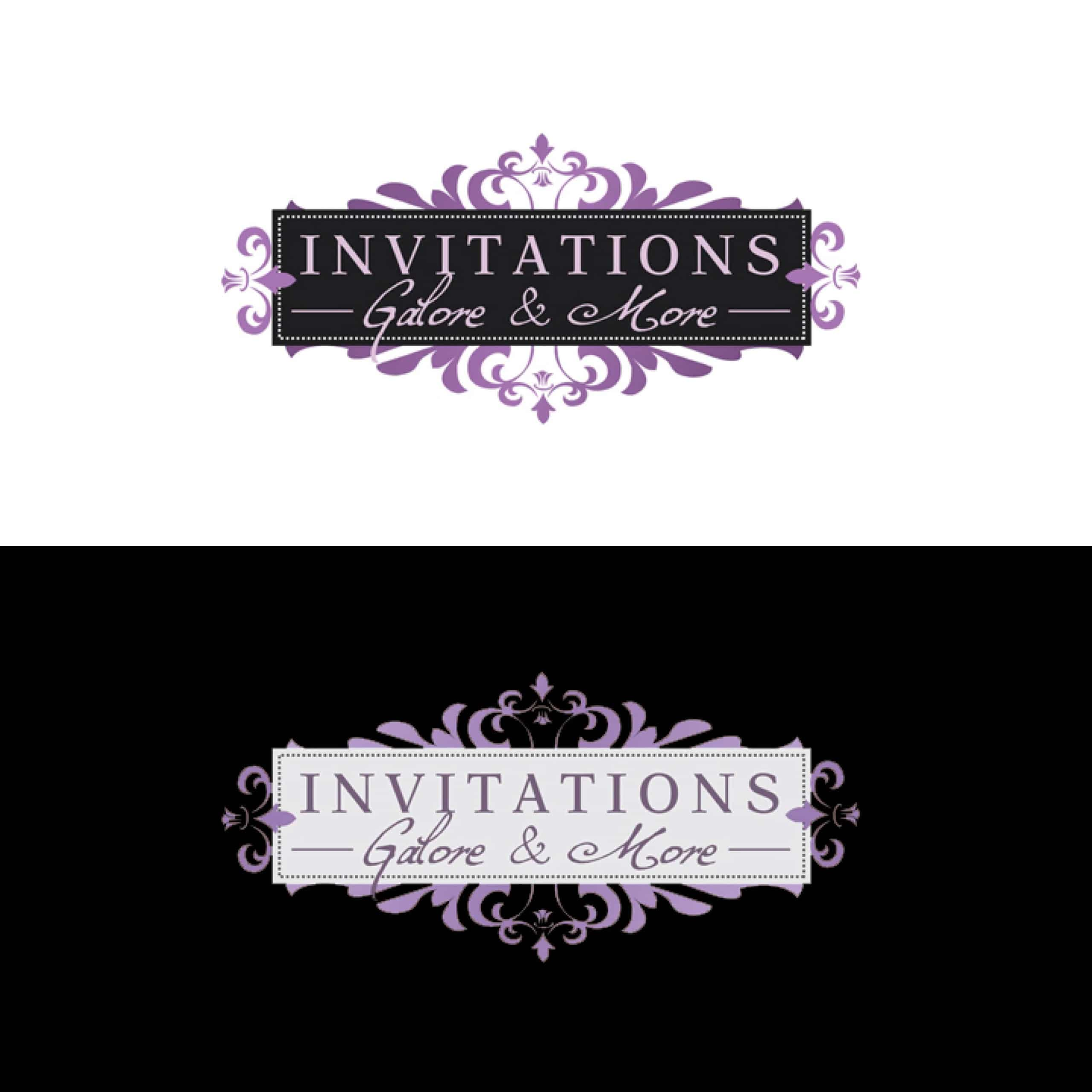 Invitations Galore & More - Logo Design