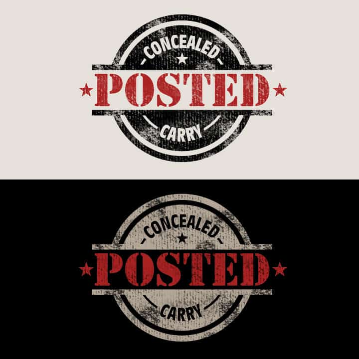 Concealed Carry Posted - Logo Design