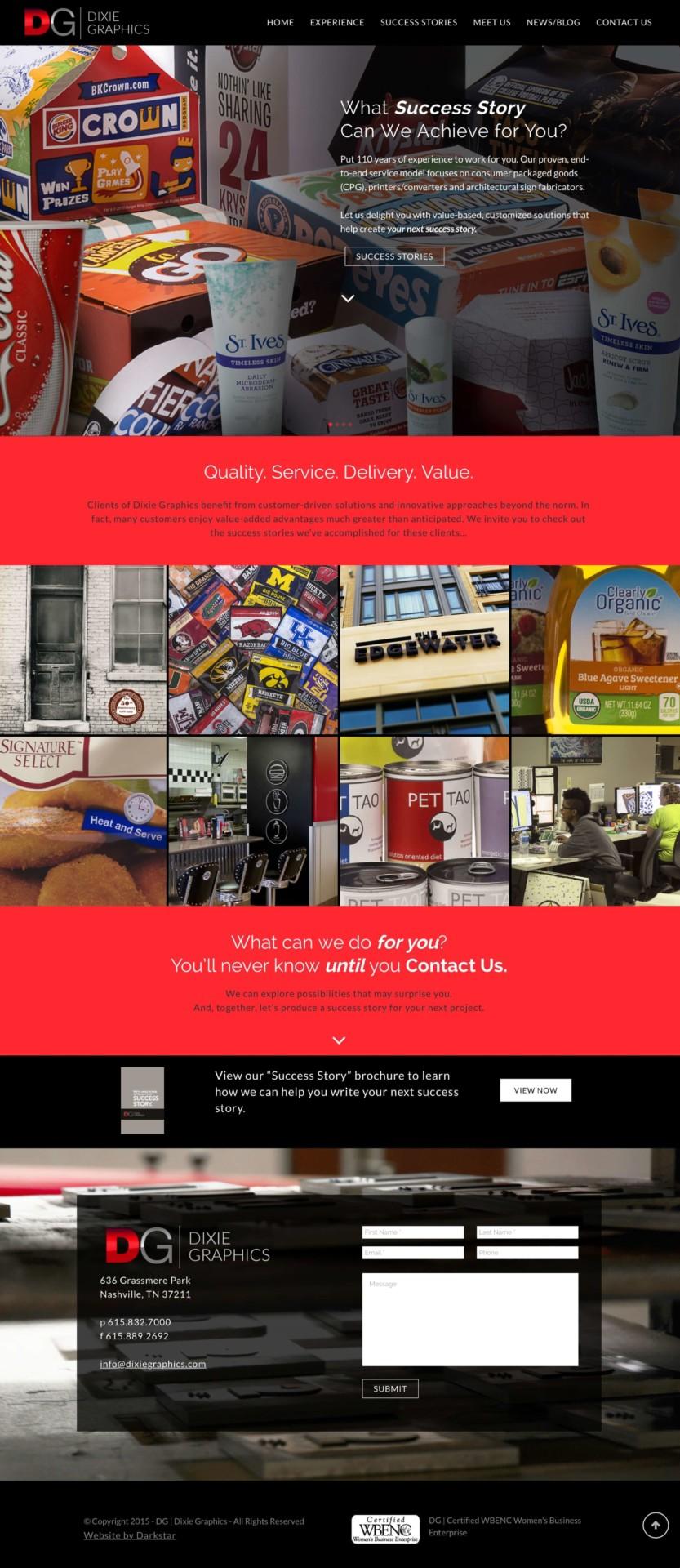 Dixie Graphics - Website Design
