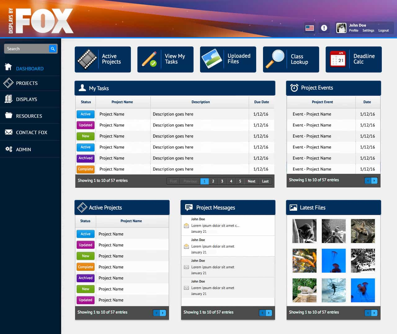 20th Century Fox Display Project Management Software