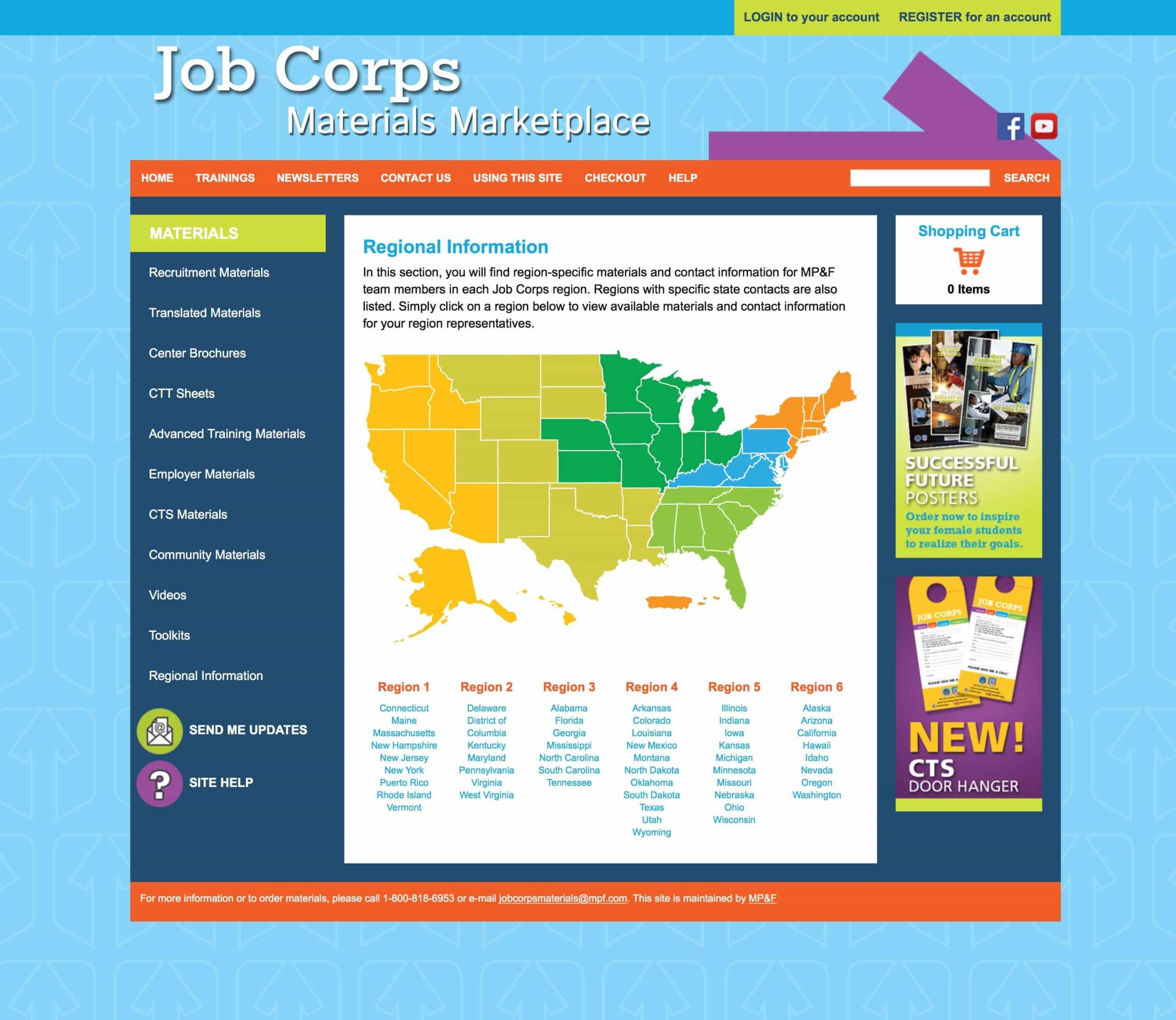 Job Corps - Website Design