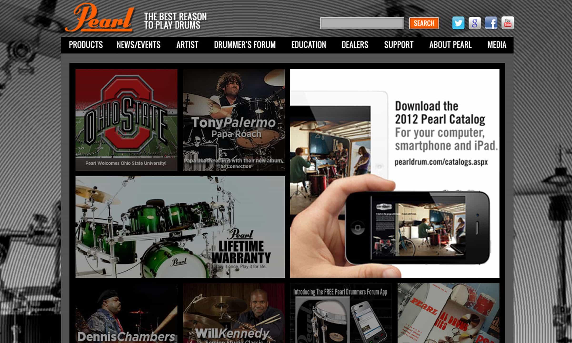 Pearl Drum - Web Design