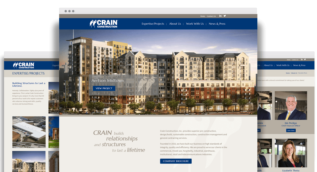 Crain Construction Website Design
