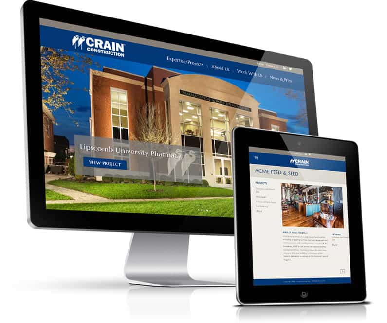 Crain Construction Website Development