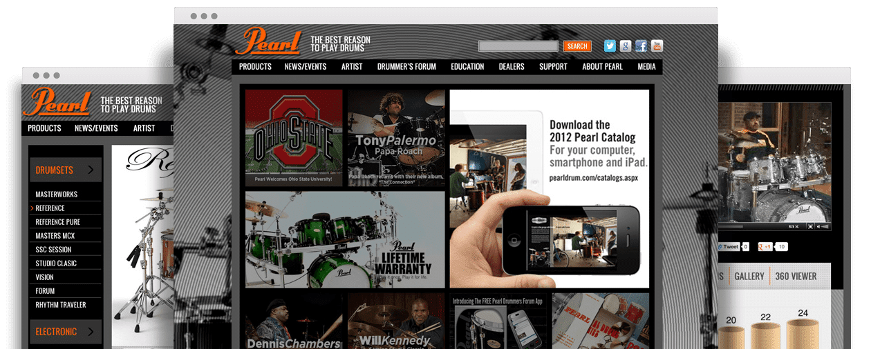 Pearl Drum Website Design