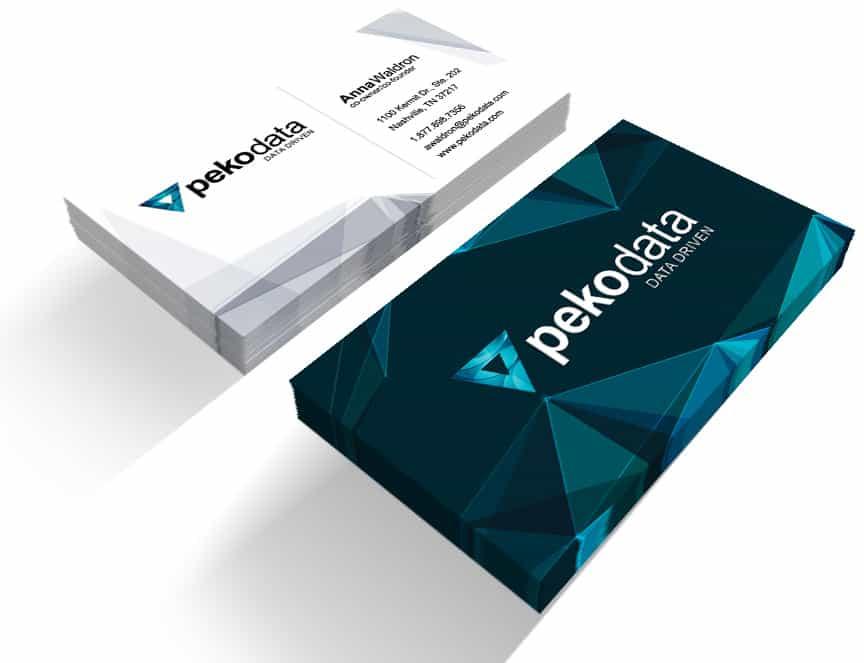 Peko Data Business Card Design