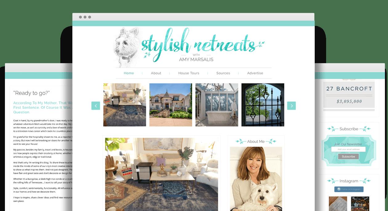 Stylish Retreats by Amy Marsalis - Responsive Web Design