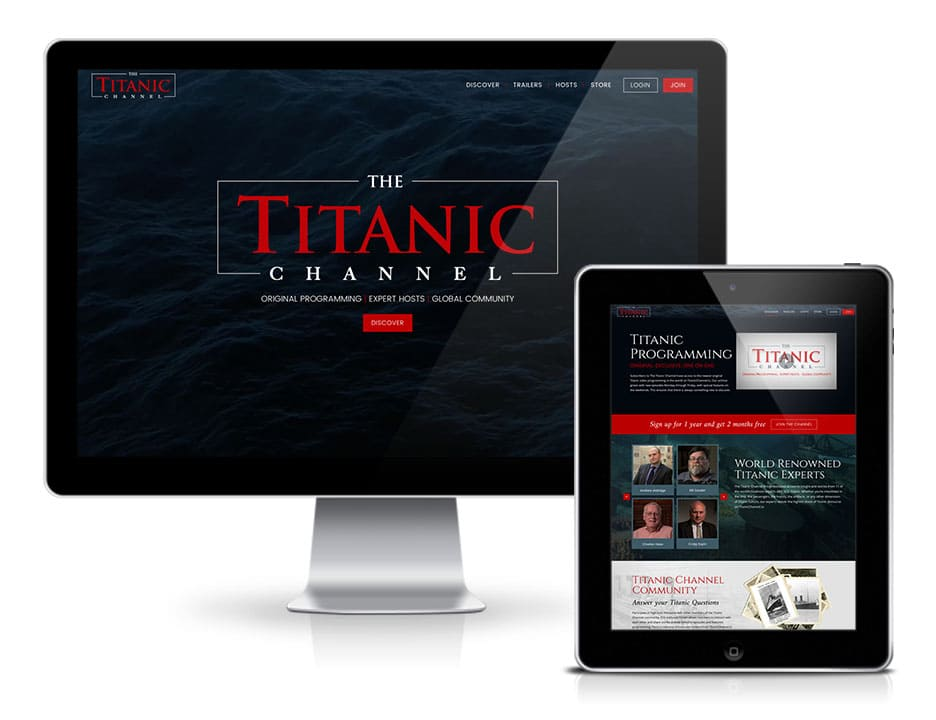 Titanic Website Design Launch